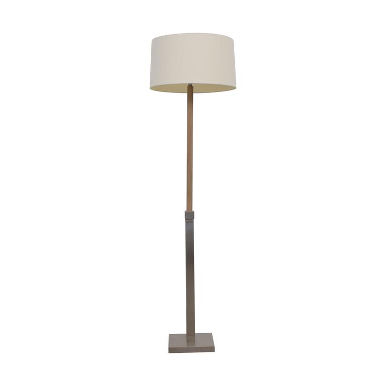 Crate & Barrel Crate & Barrel Chrome Floor Lamp for sale