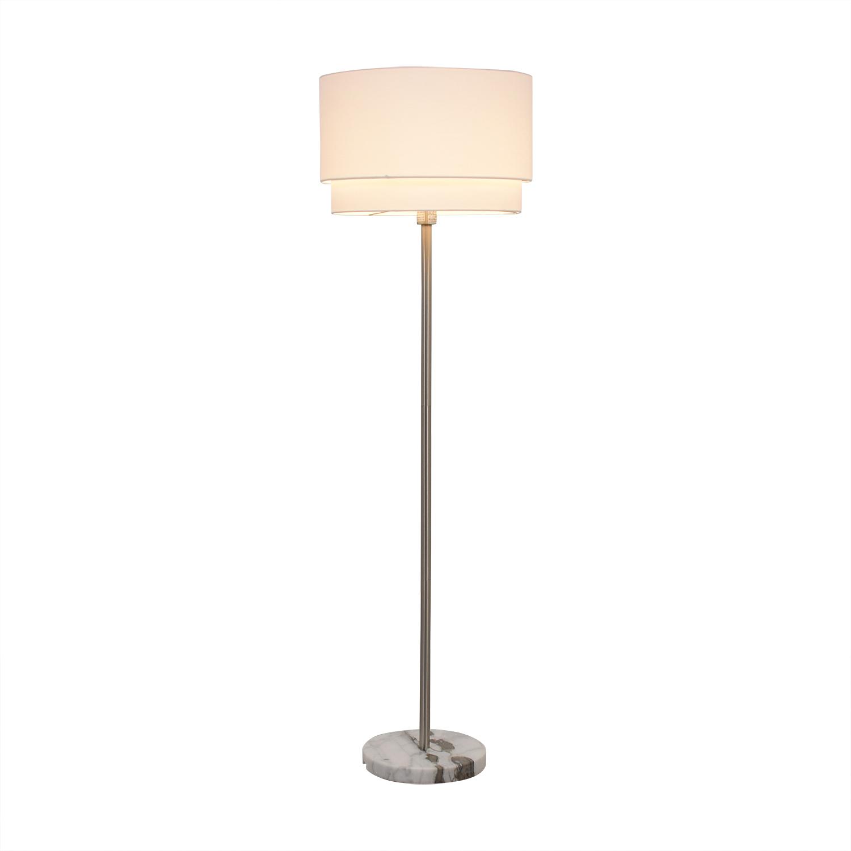buy Crate & Barrel Meryl Vertical Floor Lamp Crate & Barrel Lamps