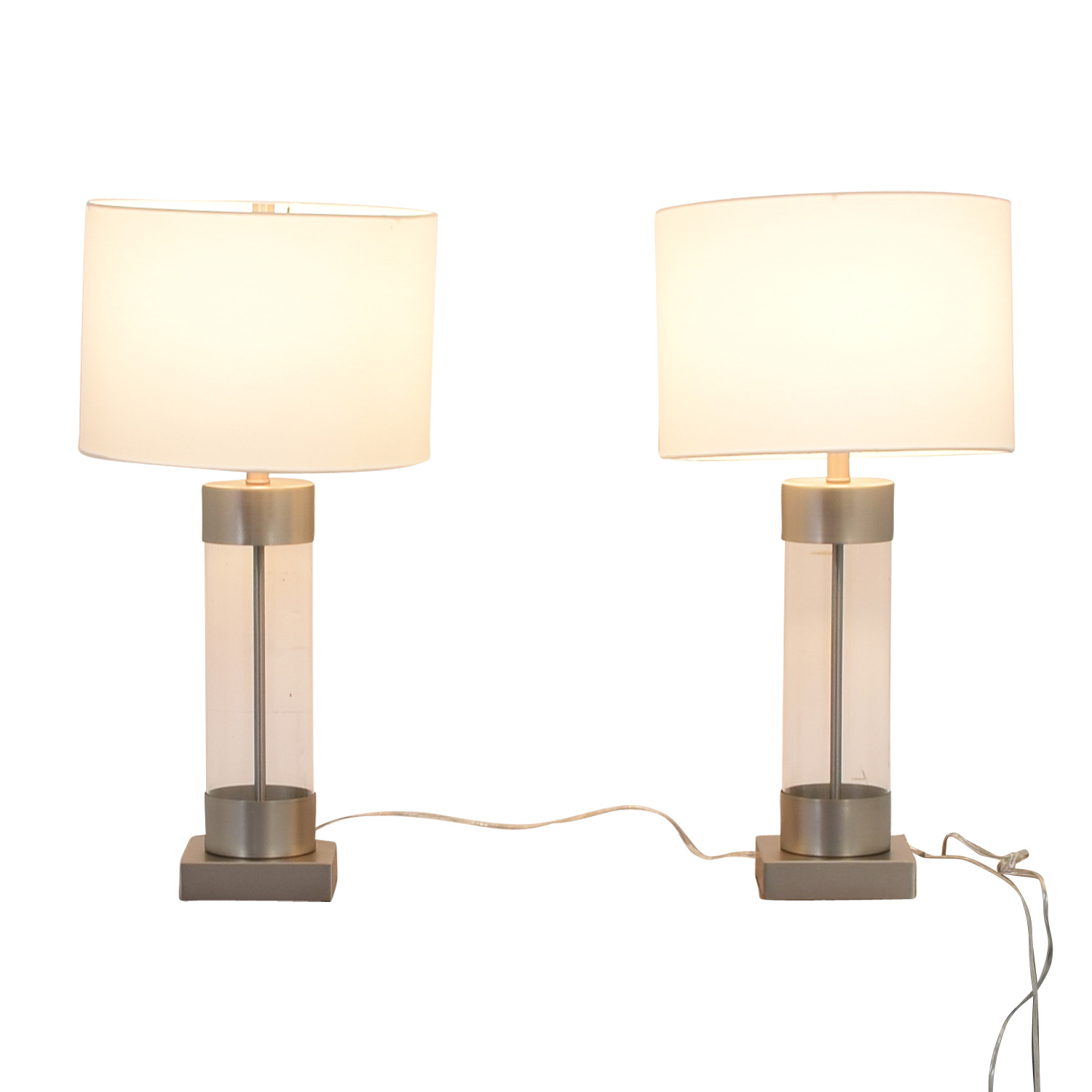 Crate & Barrel Crate & Barrel Avenue Table Lamps with USB port for sale