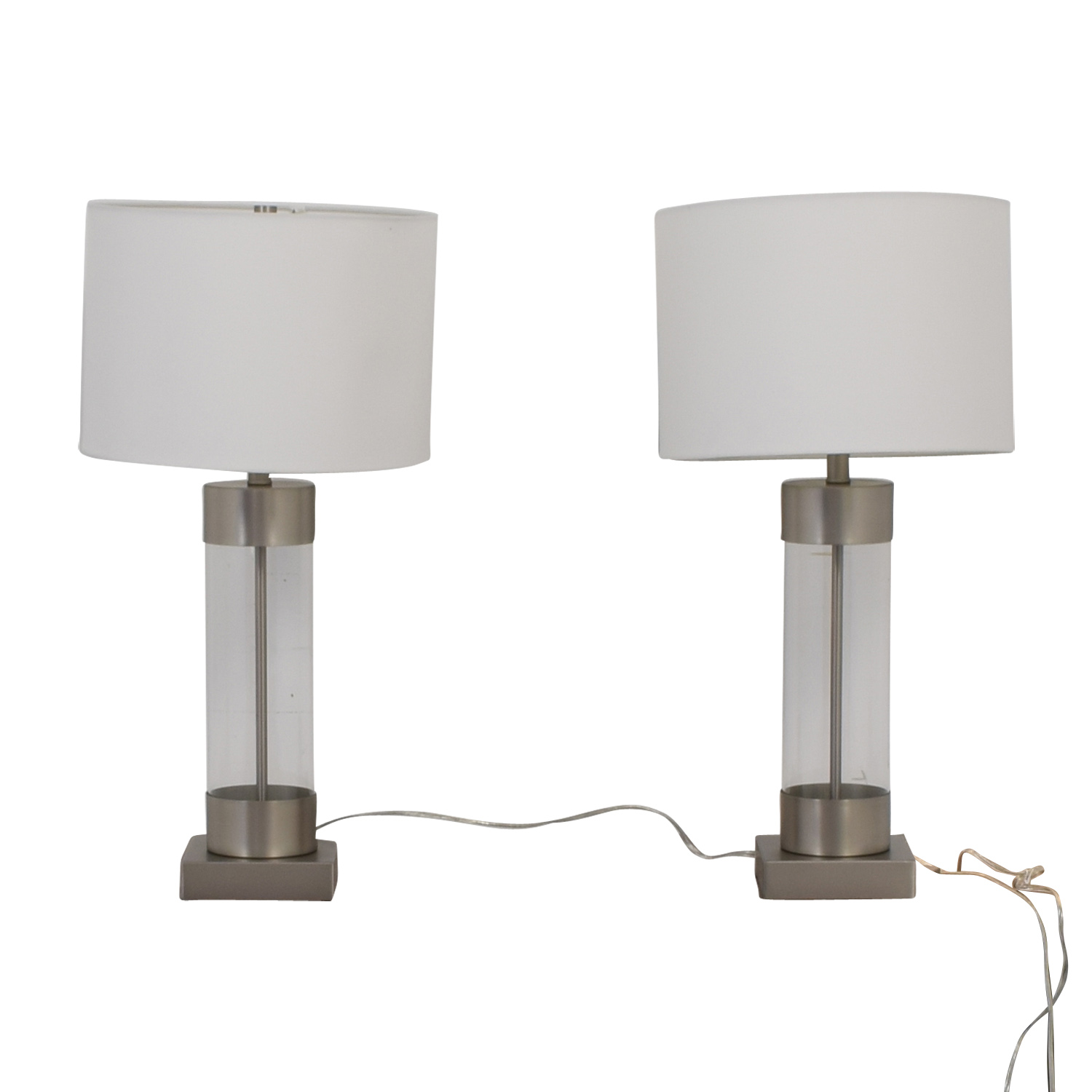 shop Crate & Barrel Avenue Table Lamps with USB port Crate & Barrel Lamps