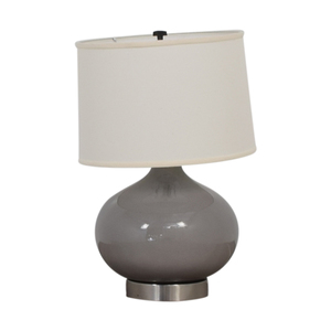 Crate & Barrel Crate & Barrel Spectrum Large Table Lamp with Oblong Ceramic and Acrylic Base for sale