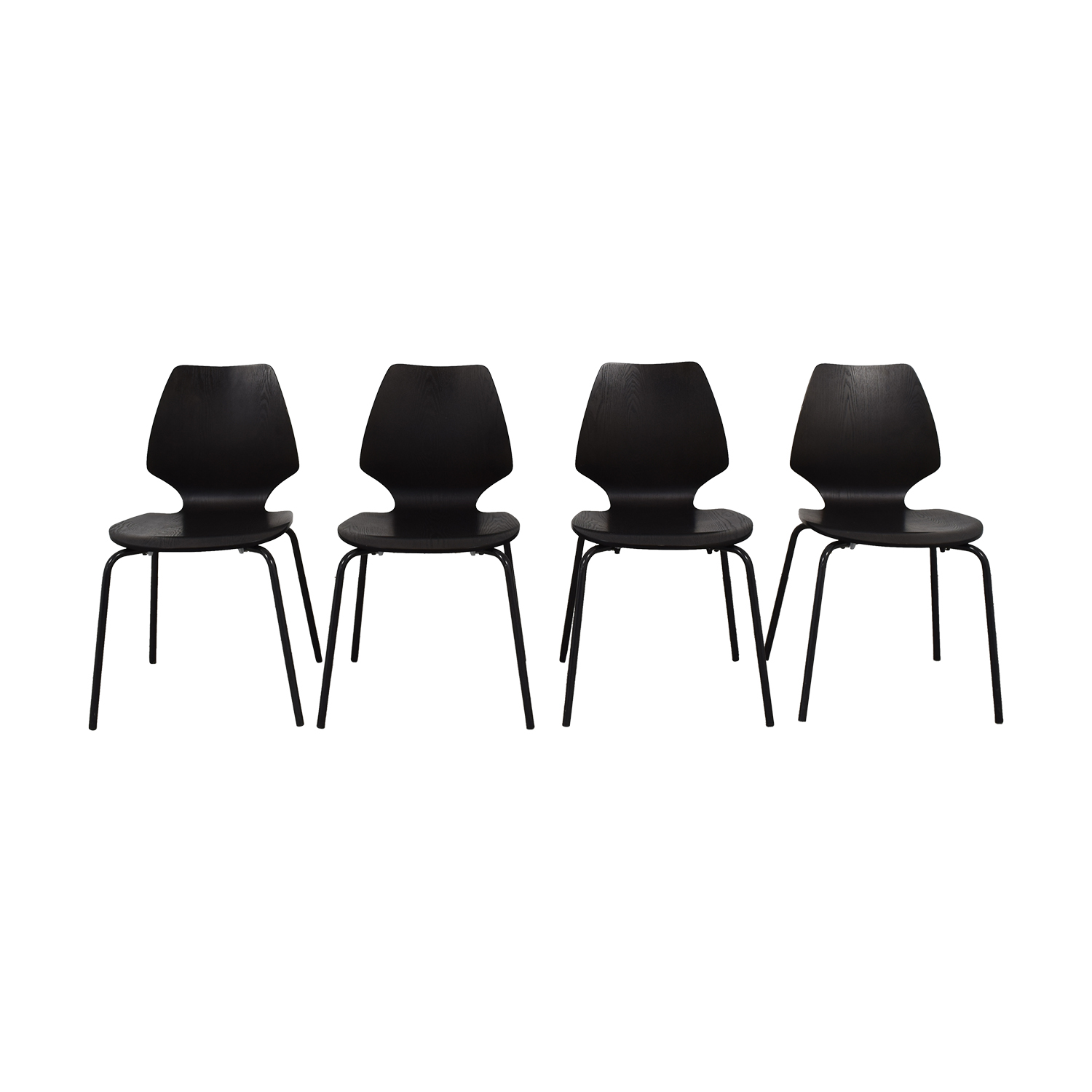 West Elm West Elm Peppermill Charcoal Dining Chairs second hand