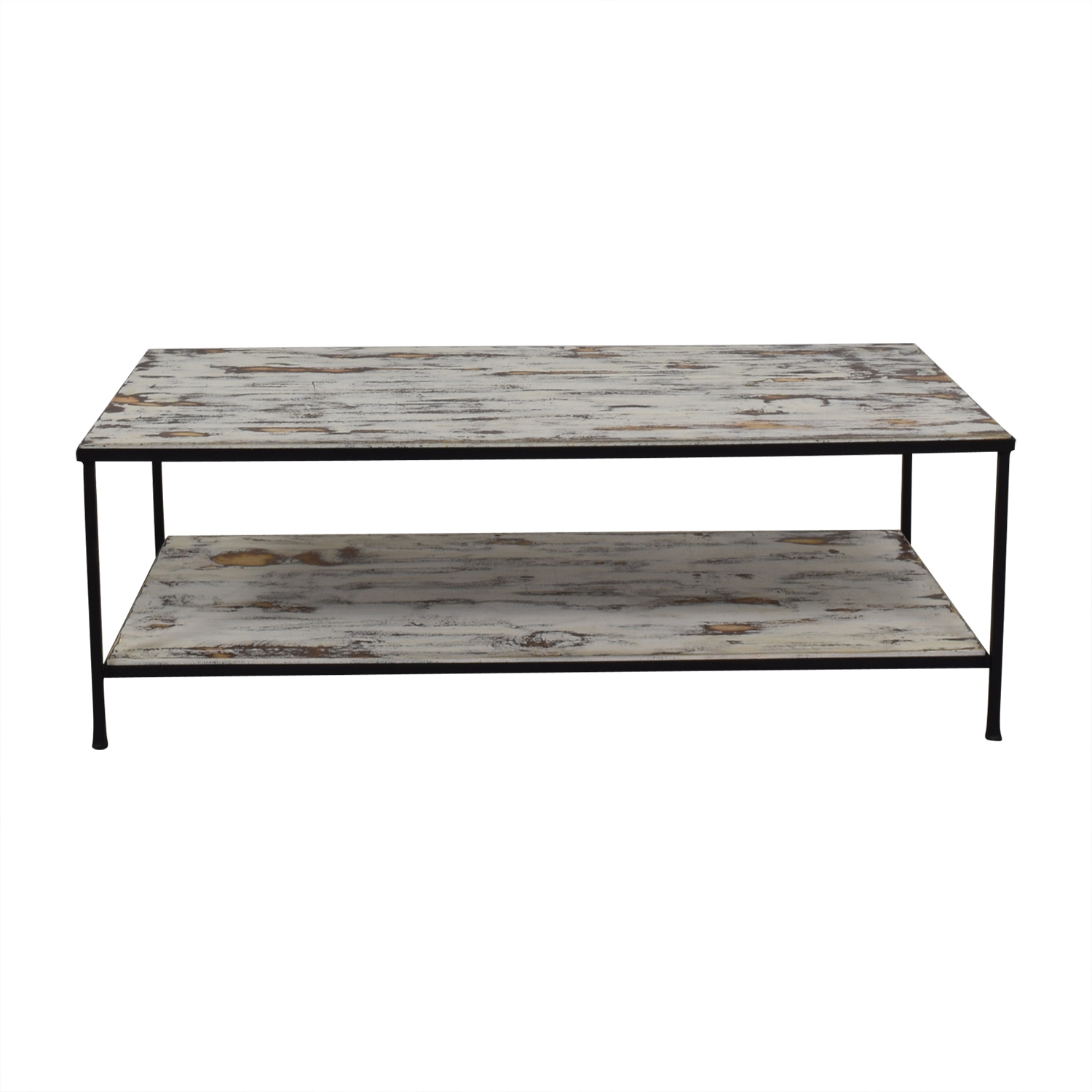 Rustic Distressed Wood Coffee Table price