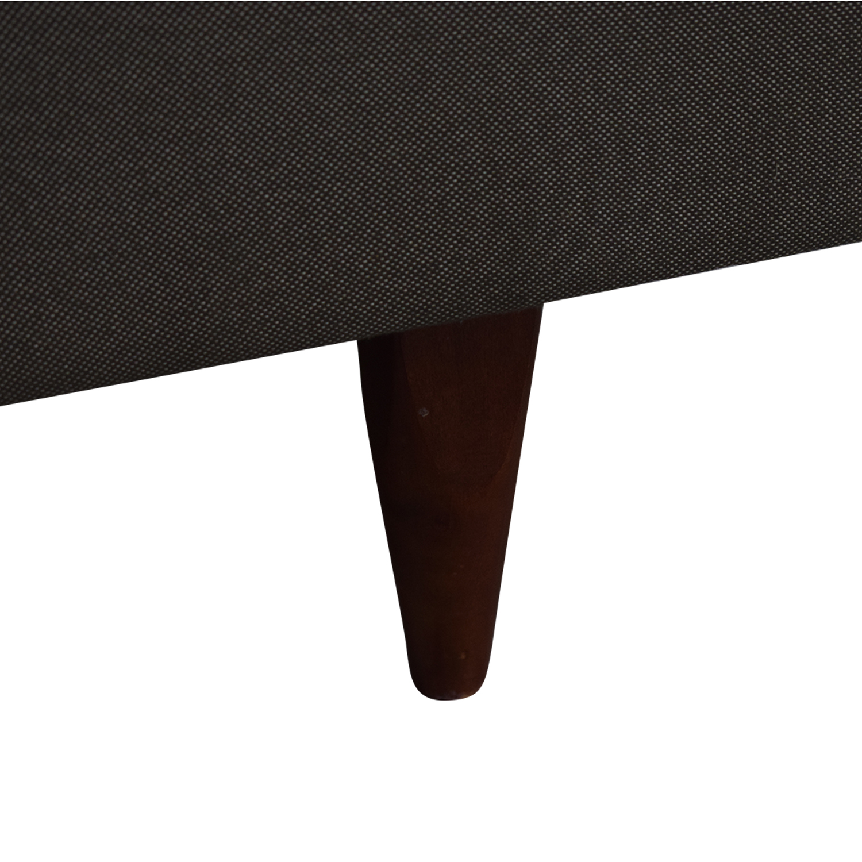Room & Board Jasper Grey Chaise Sectional Room & Board