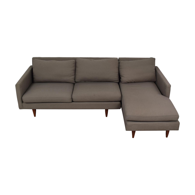 shop Room & Board Room & Board Jasper Grey Chaise Sectional online