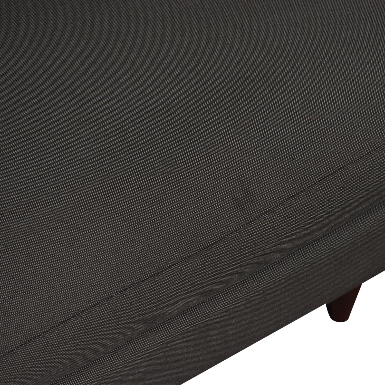 Room & Board Room & Board Jasper Grey Chaise Sectional nyc