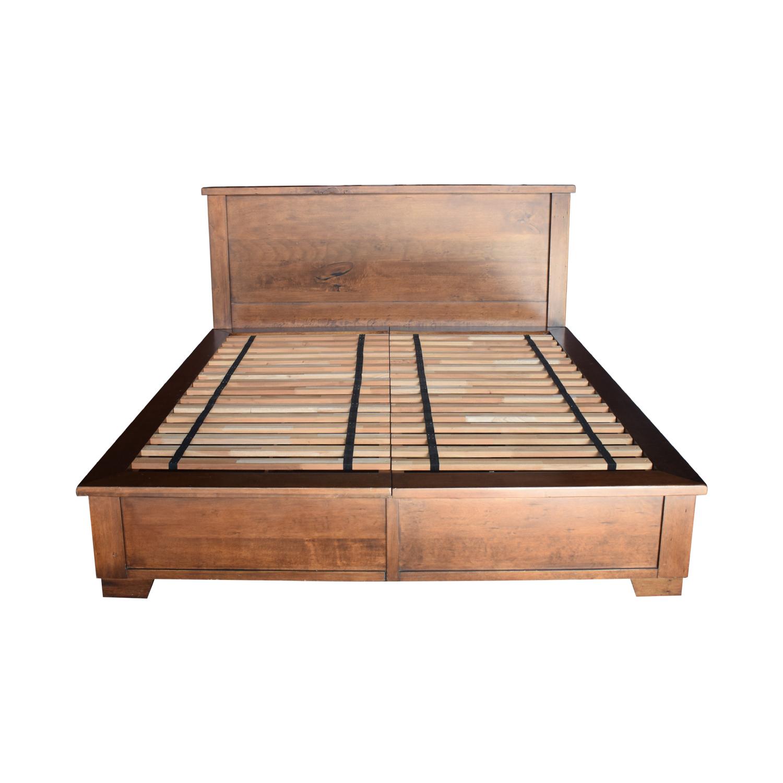 buy Pottery Barn Sumatra Wood King Platform Bed with Storage Pottery Barn Beds