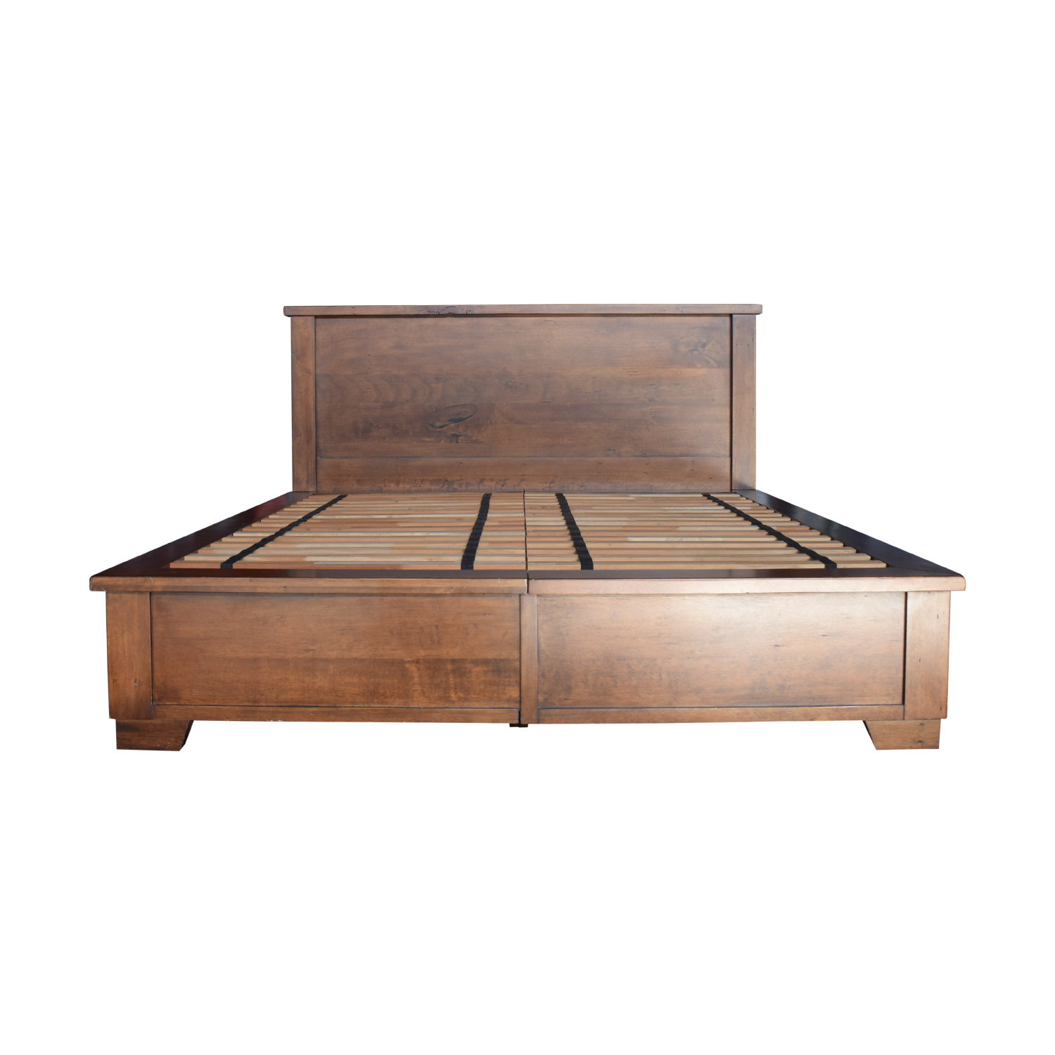 3% OFF - Pottery Barn Pottery Barn Sumatra Wood King Platform Bed with  Storage / Beds