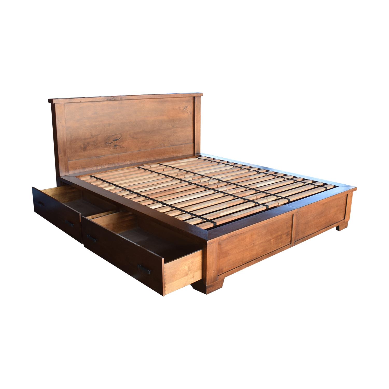 Pottery Barn Pottery Barn Sumatra Wood King Platform Bed with Storage discount