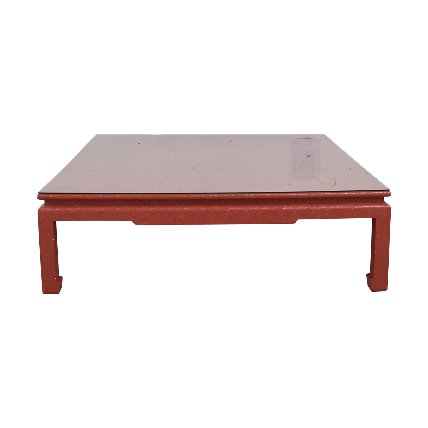 Custom Red Orange Square Coffee Table for sale