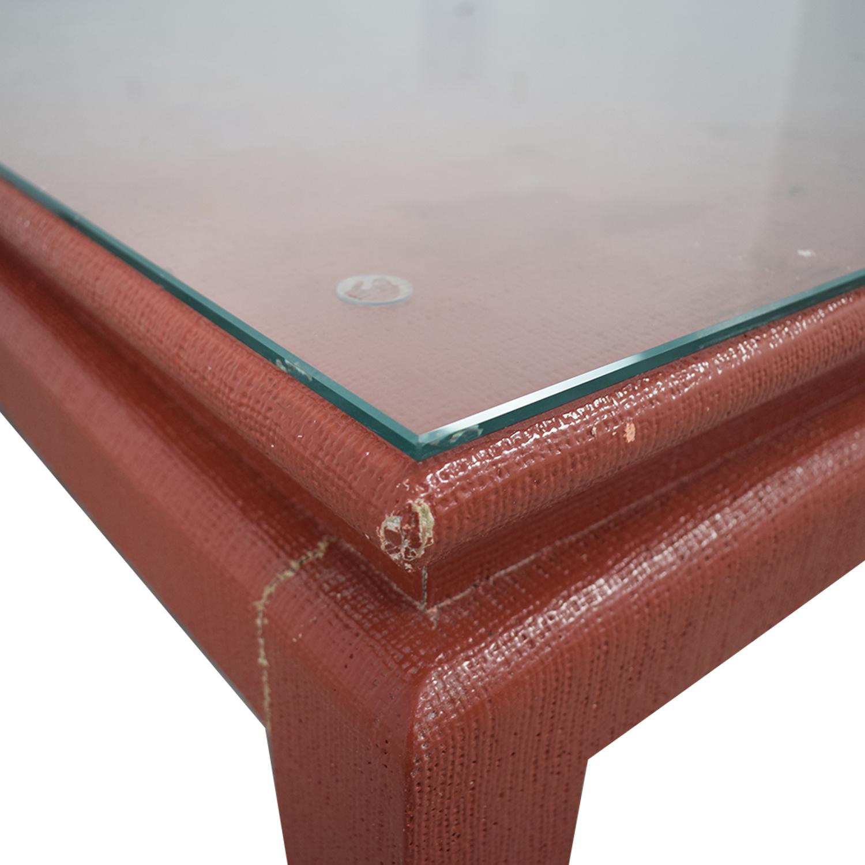 Custom Red Orange Square Coffee Table / Coffee Tables
