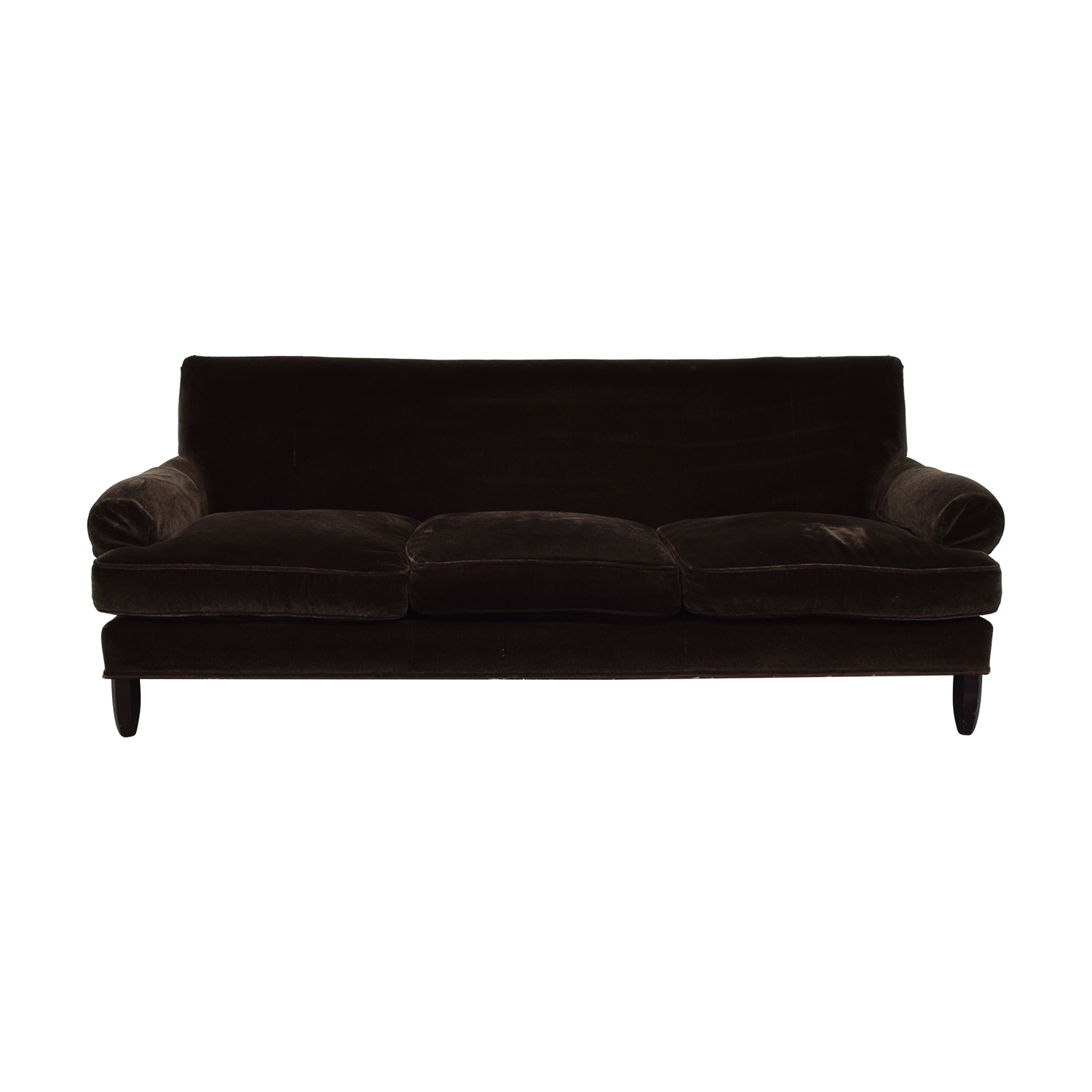 Baker Furniture Baker Furniture Brown Three-Cushion Couch nj