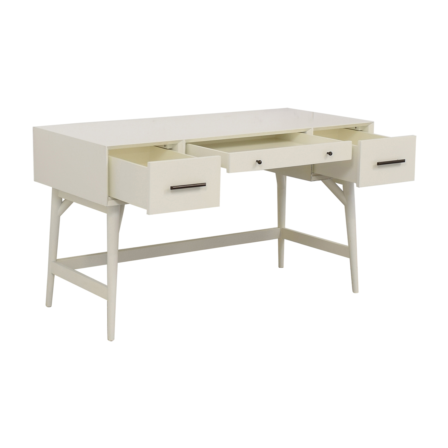 West Elm Three-Drawer White Desk sale