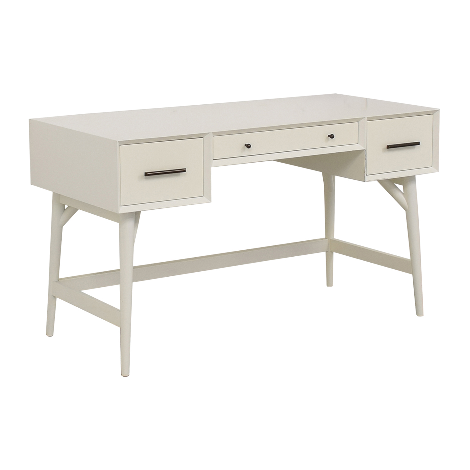 shop West Elm Three-Drawer White Desk West Elm Home Office Desks