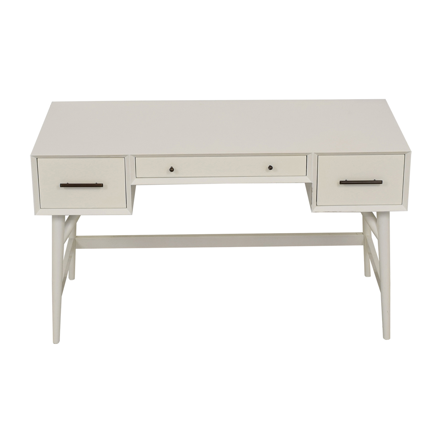 West Elm West Elm Three-Drawer White Desk used