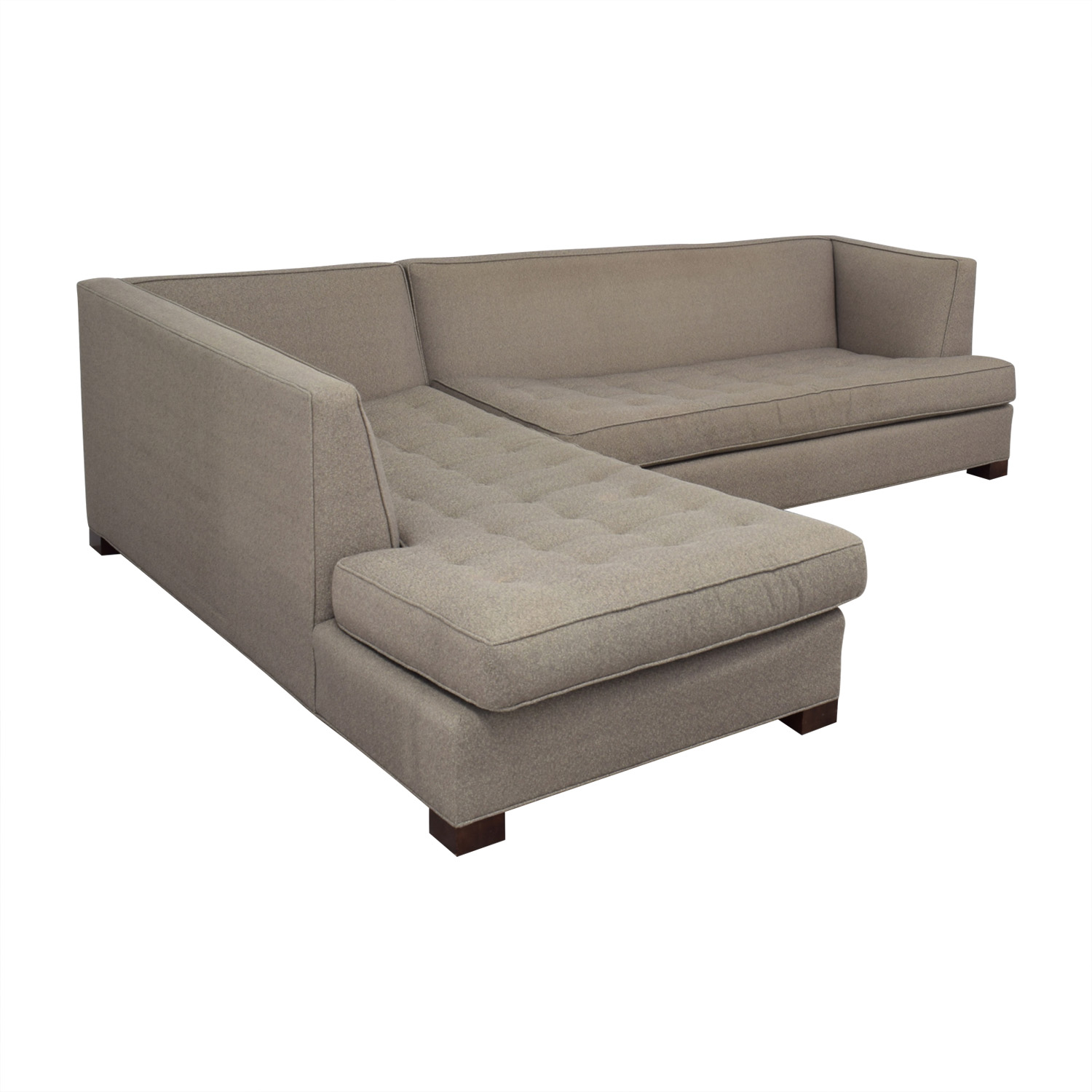 Mitchell Gold + Bob Williams Mitchell Gold + Bob Williams Beige Tufted Chaise Sectional price