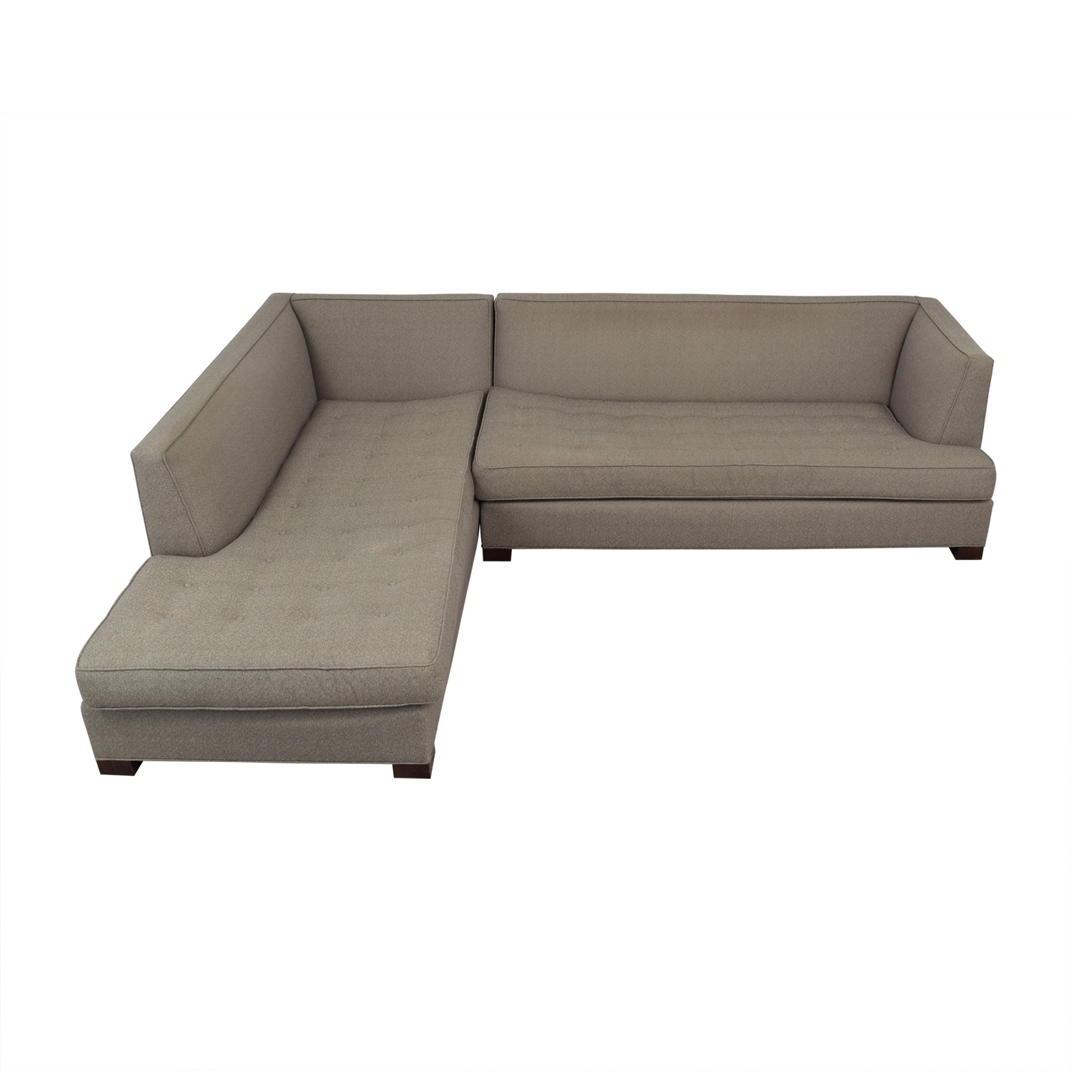 Mitchell Gold + Bob Williams Mitchell Gold + Bob Williams Beige Tufted Chaise Sectional coupon
