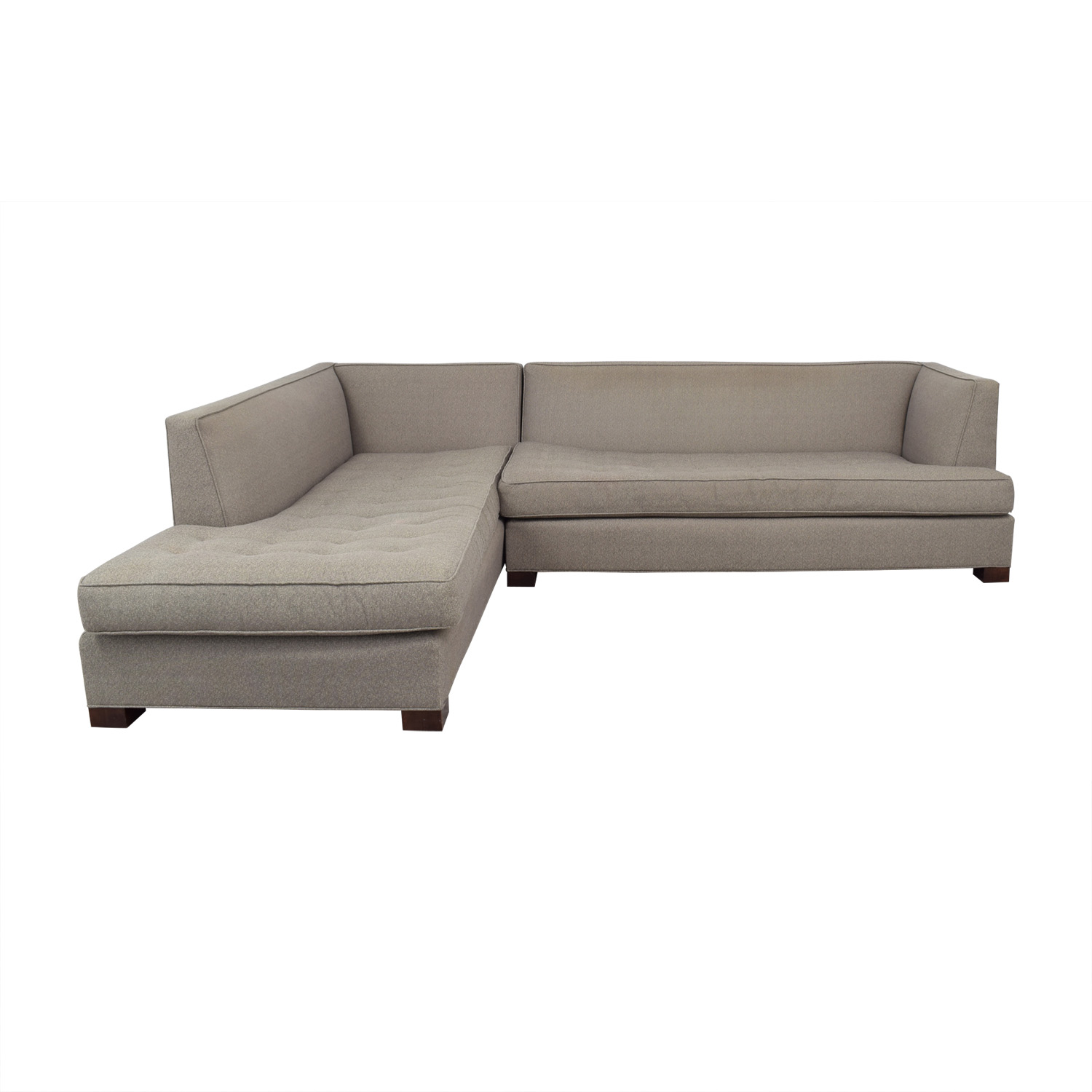 Mitchell Gold + Bob Williams Beige Tufted Chaise Sectional sale