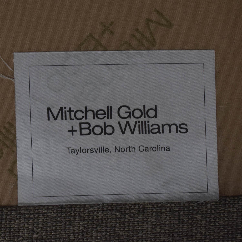 buy Mitchell Gold + Bob Williams Beige Tufted Chaise Sectional Mitchell Gold + Bob Williams Sectionals