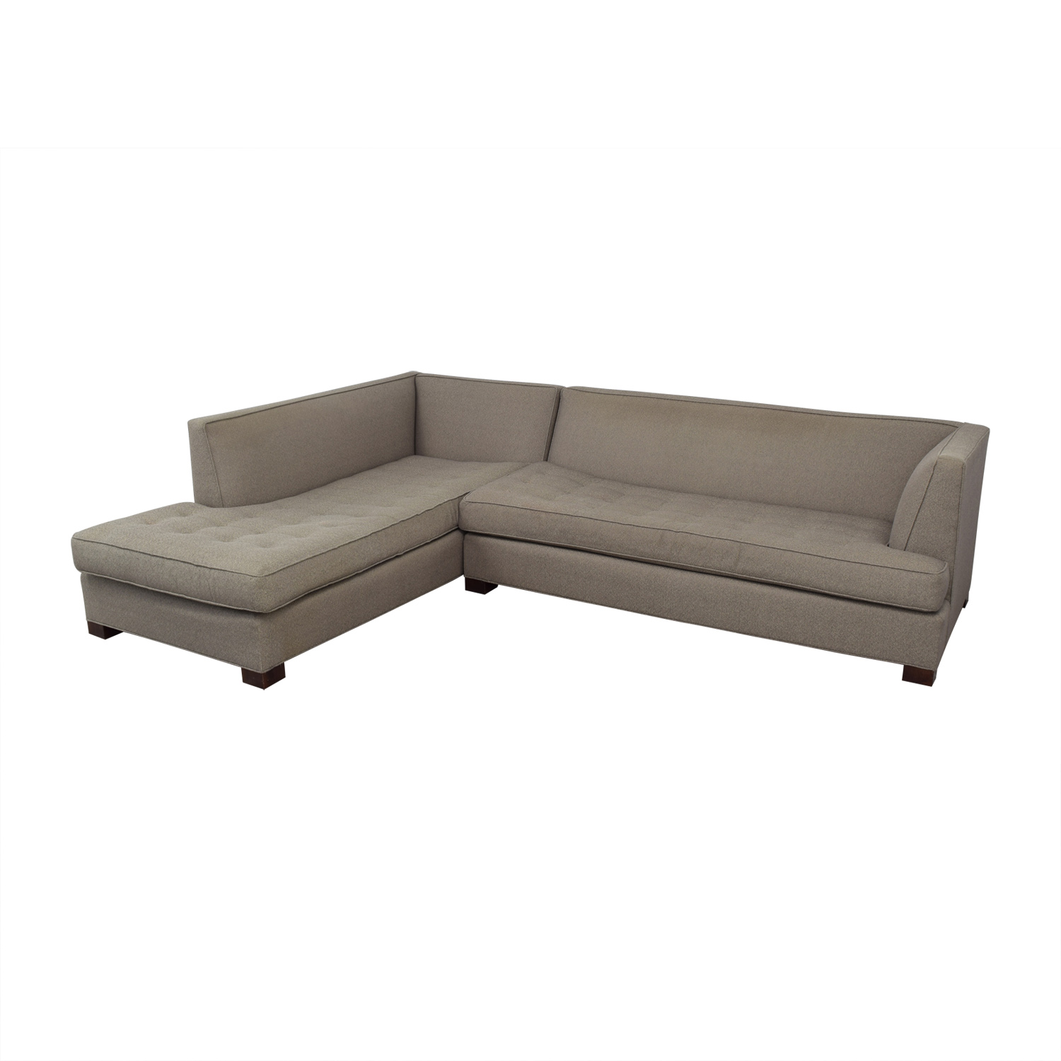 Mitchell Gold + Bob Williams Mitchell Gold + Bob Williams Beige Tufted Chaise Sectional nj