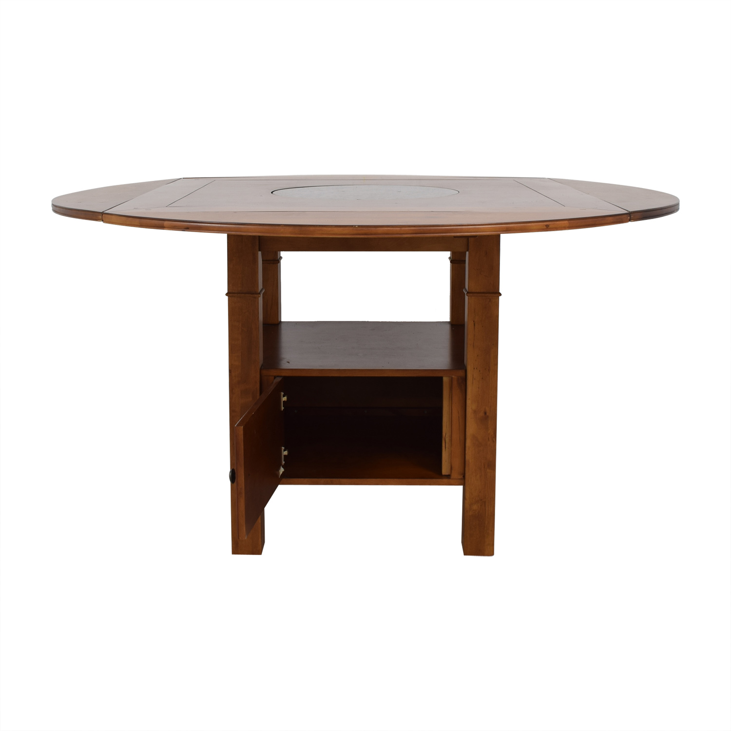 buy Haverty's Counter Height Wood Dining Table with Folding Leaves Haverty's