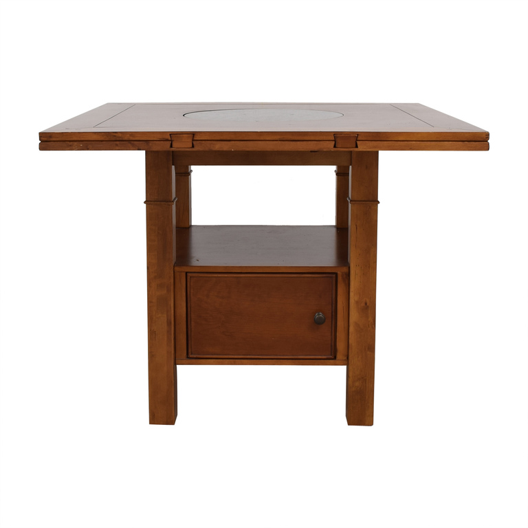 Haverty's Haverty's Counter Height Wood Dining Table with Folding Leaves used