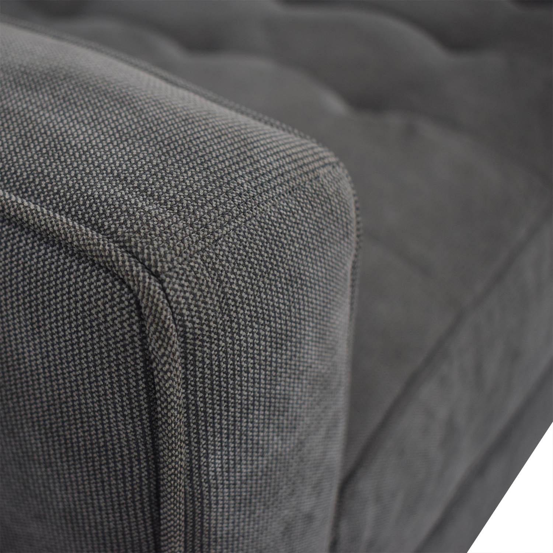 Z Gallerie Z Gallerie Vapor Grey Tufted L-Shaped Sectional Sofas