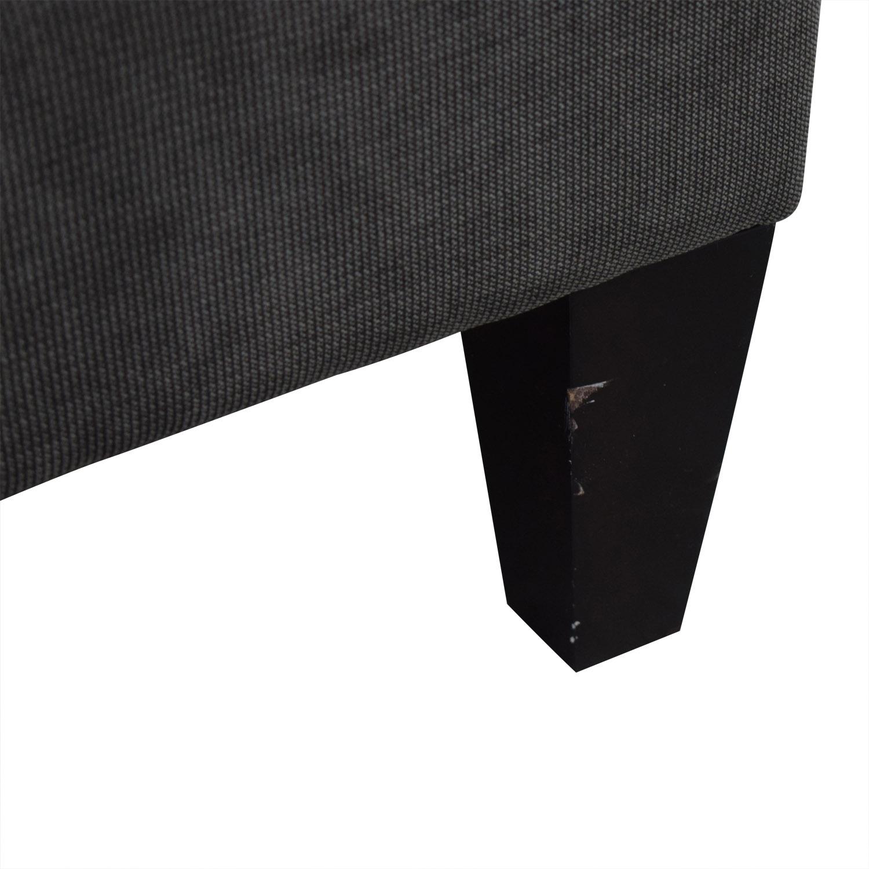 Z Gallerie Z Gallerie Vapor Grey Tufted L-Shaped Sectional