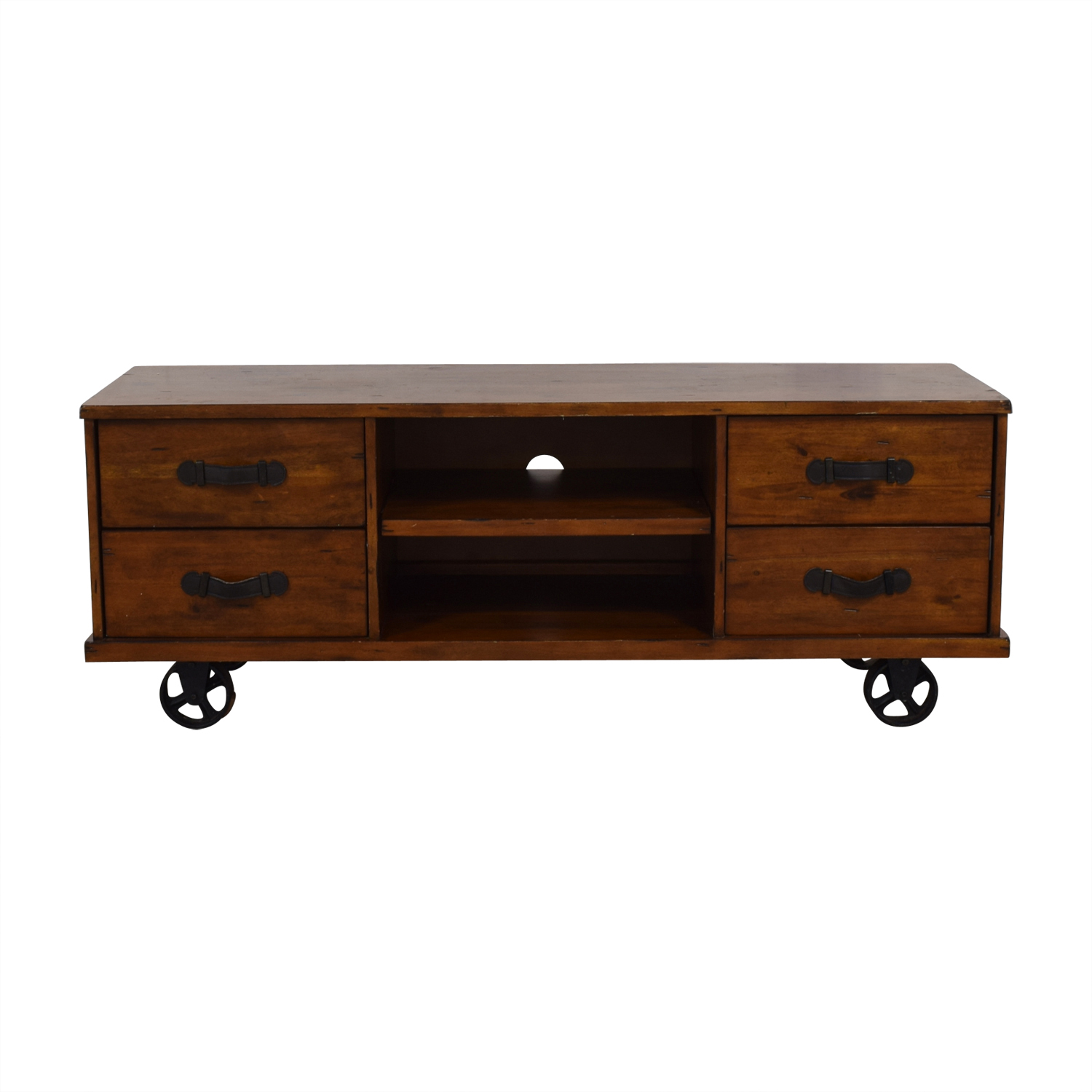 A & G Merch A & G Merch Wood Four-Drawer Media Console nj