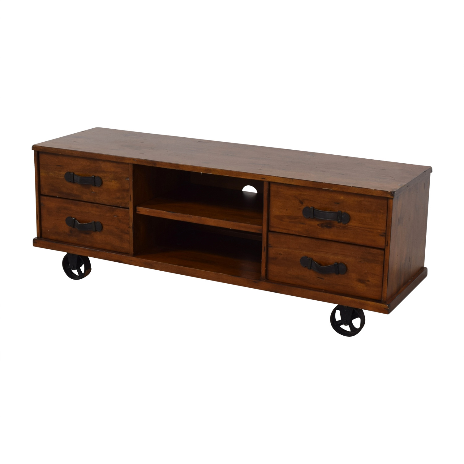 A & G Merch A & G Merch Wood Four-Drawer Media Console for sale
