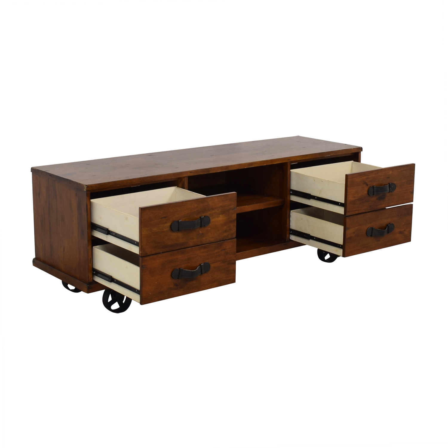 A & G Merch A & G Merch Wood Four-Drawer Media Console on sale