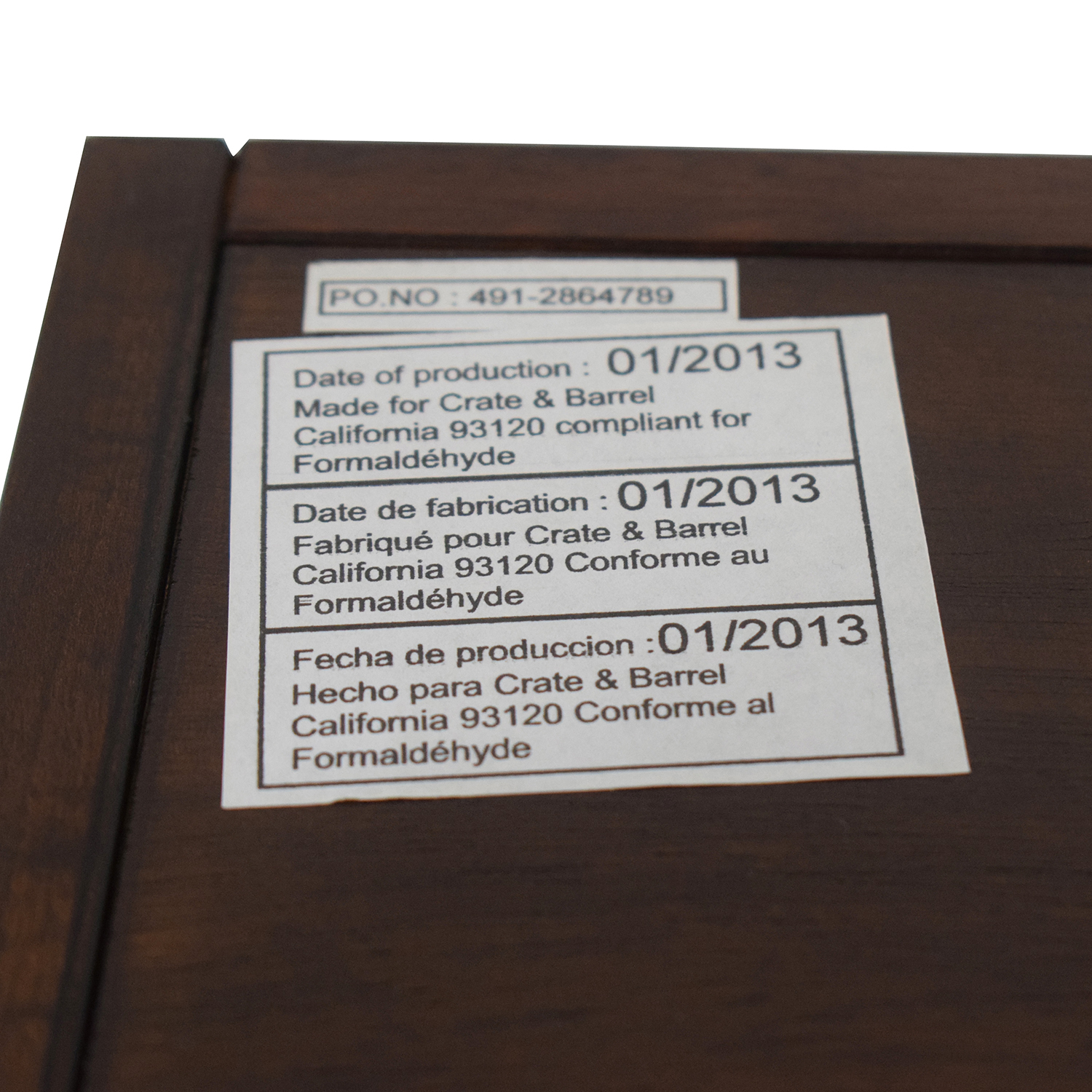 Crate & Barrel Crate & Barrel Wood Leaning Bookcase Brown