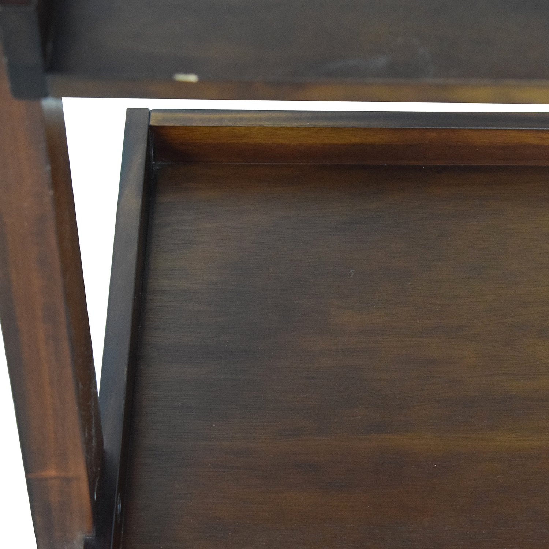 shop Crate & Barrel Wood Leaning Bookcase Crate & Barrel Bookcases & Shelving