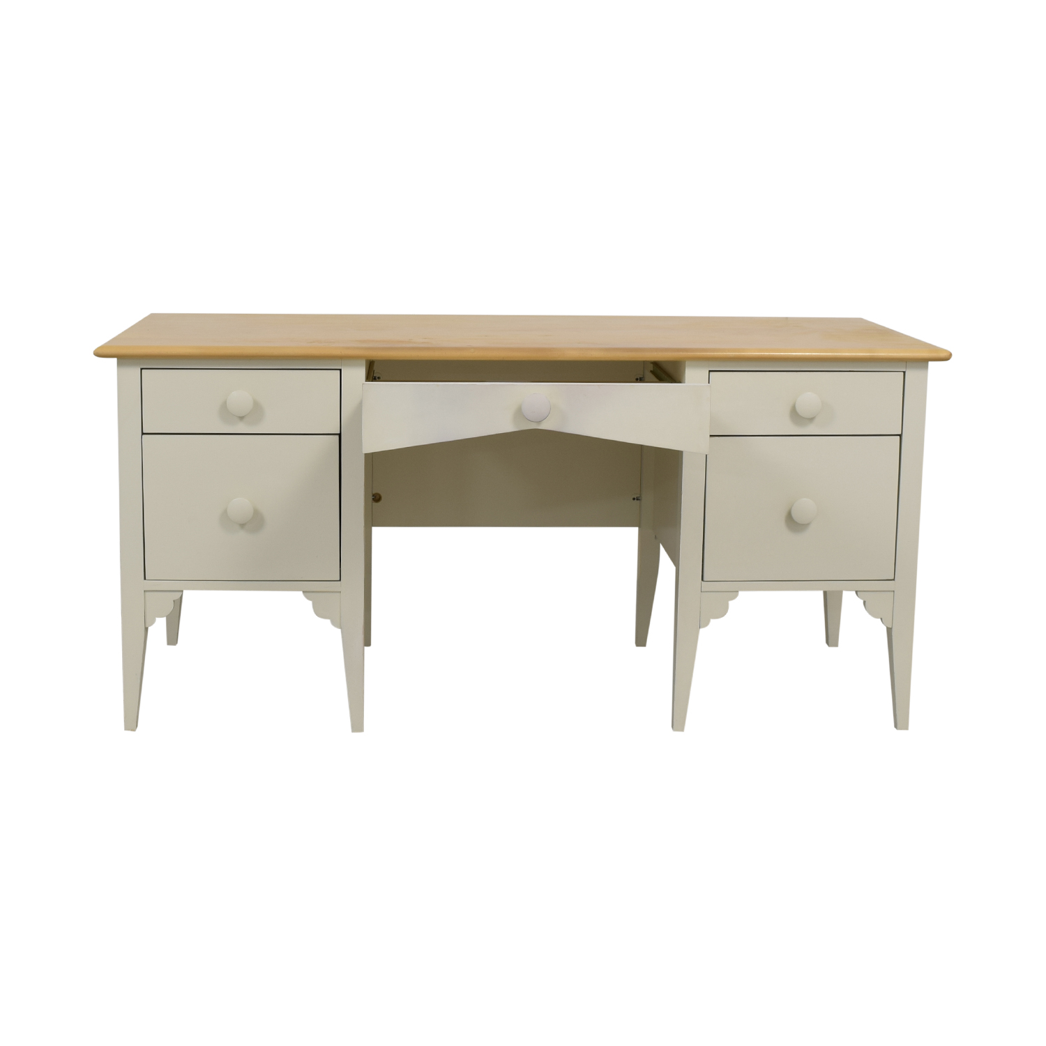 Maine Cottage Furniture Big Cay White Five-Drawer Desk sale