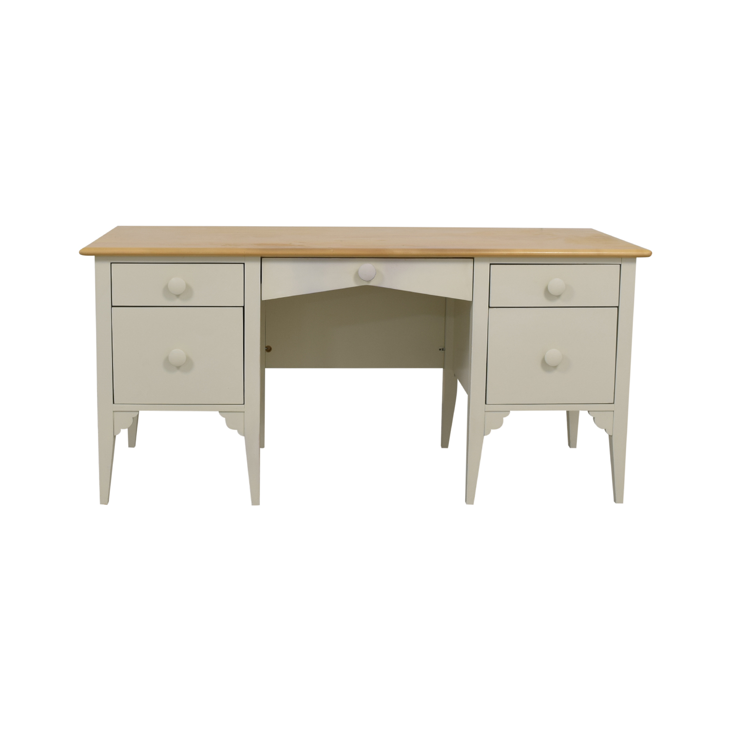 Maine Cottage Furniture Maine Cottage Furniture Big Cay White Five-Drawer Desk used