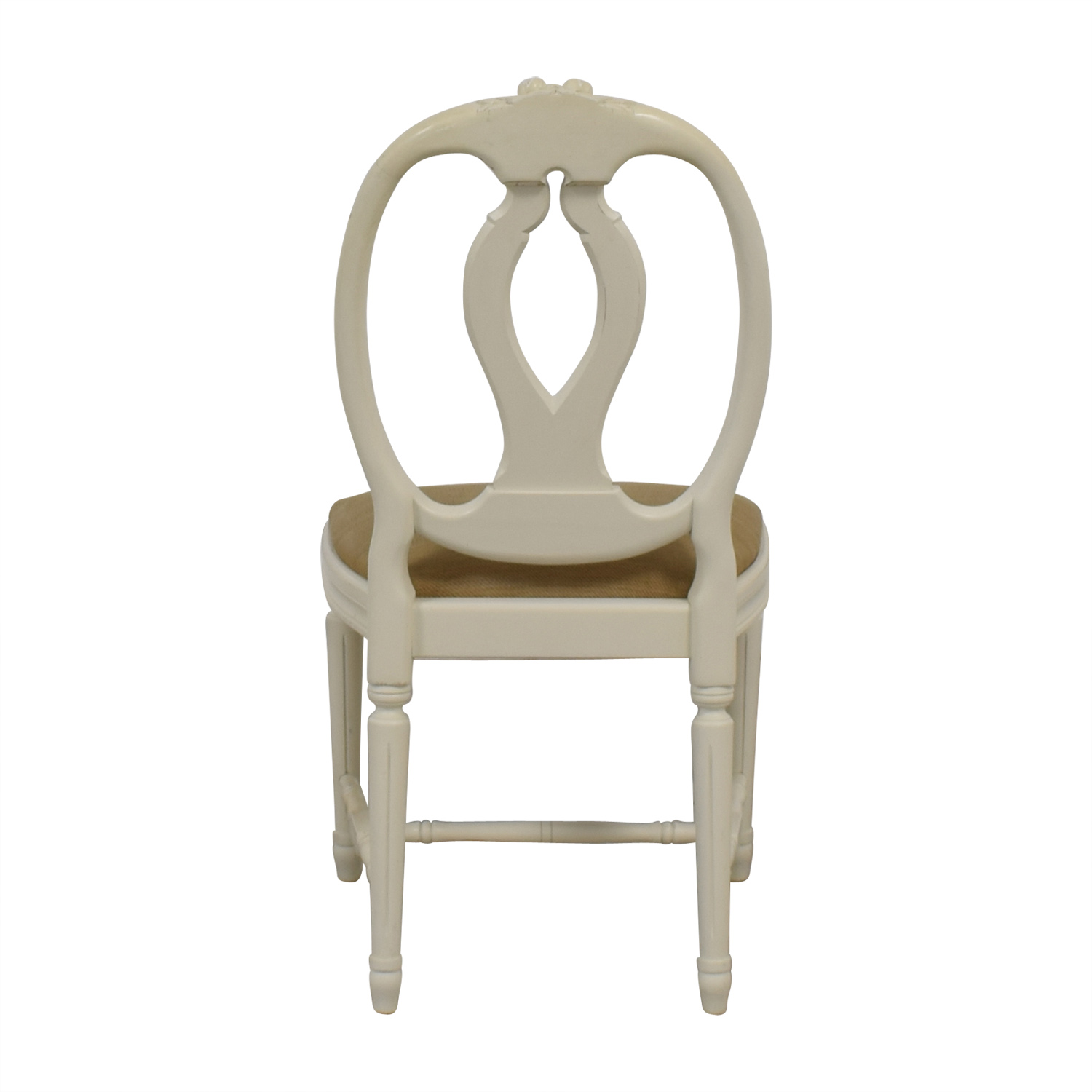 Swedish Blond Country Distressed Cream Chair sale