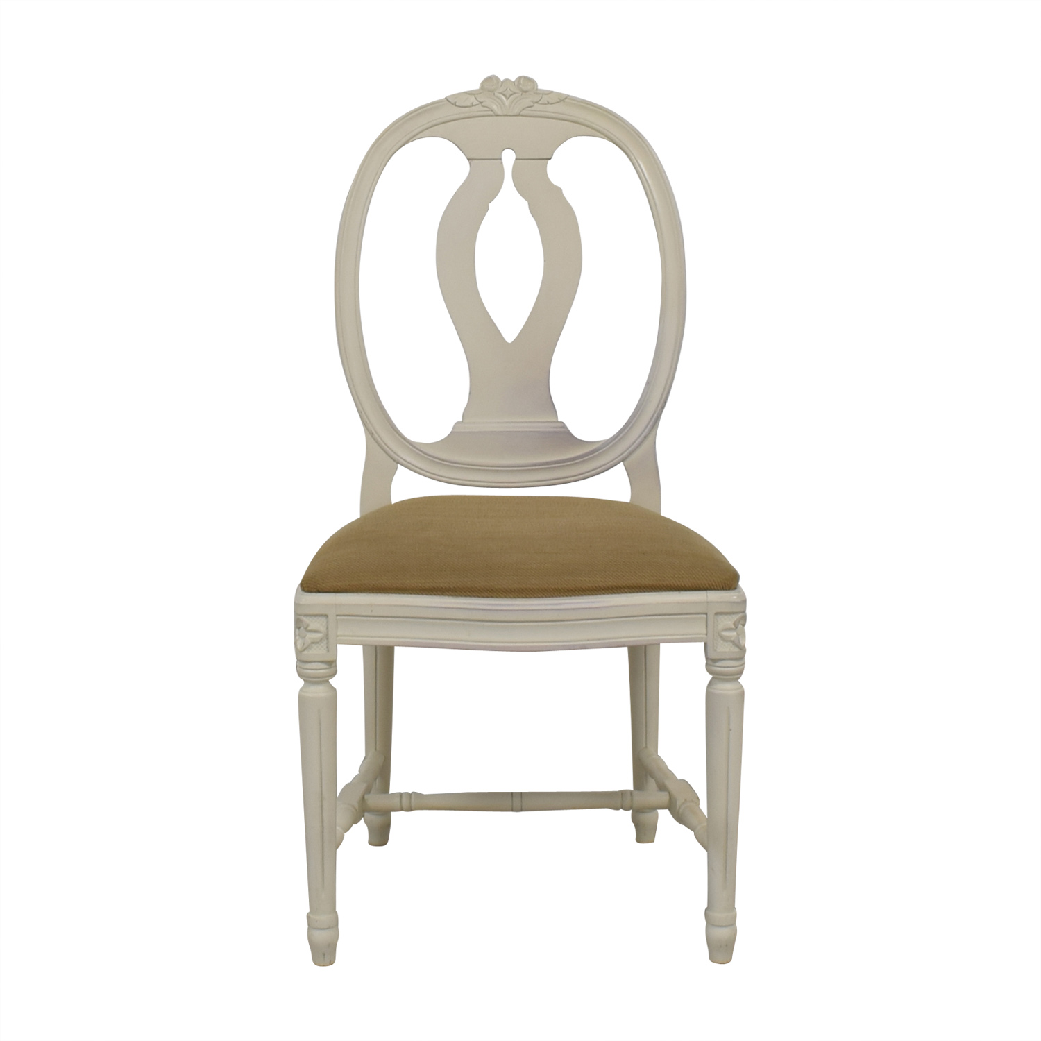 shop Swedish Blond Country Distressed Cream Chair Swedish Blond