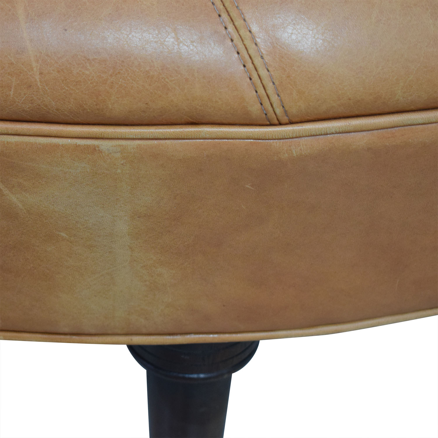 Phenomenal 90 Off Oval Cognac Leather Ottoman Chairs Uwap Interior Chair Design Uwaporg
