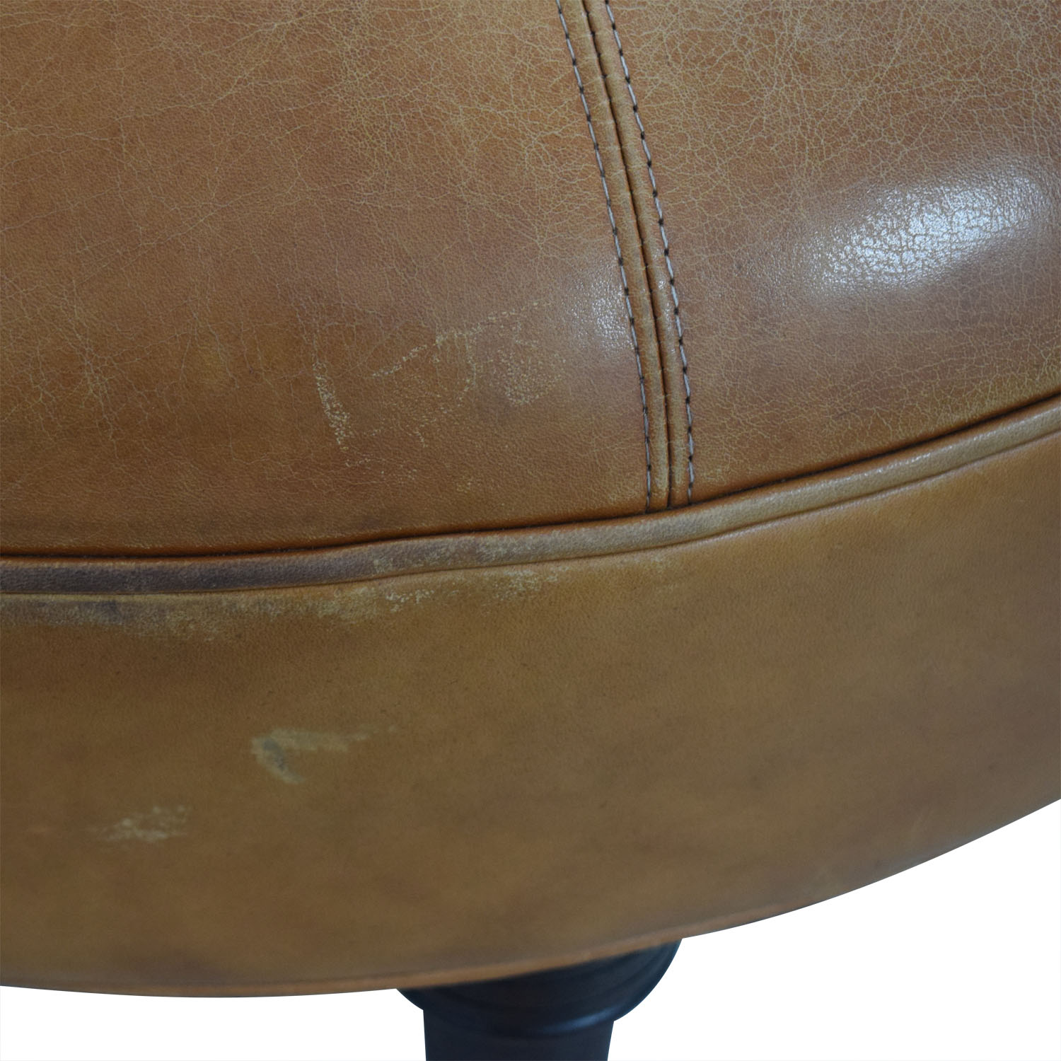 shop Oval Cognac Leather Ottoman  Chairs