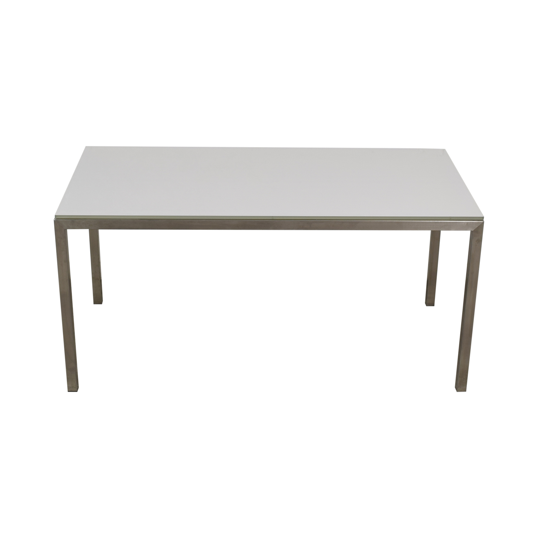 Room & Board Portica Glass and Chrome Desk / Tables