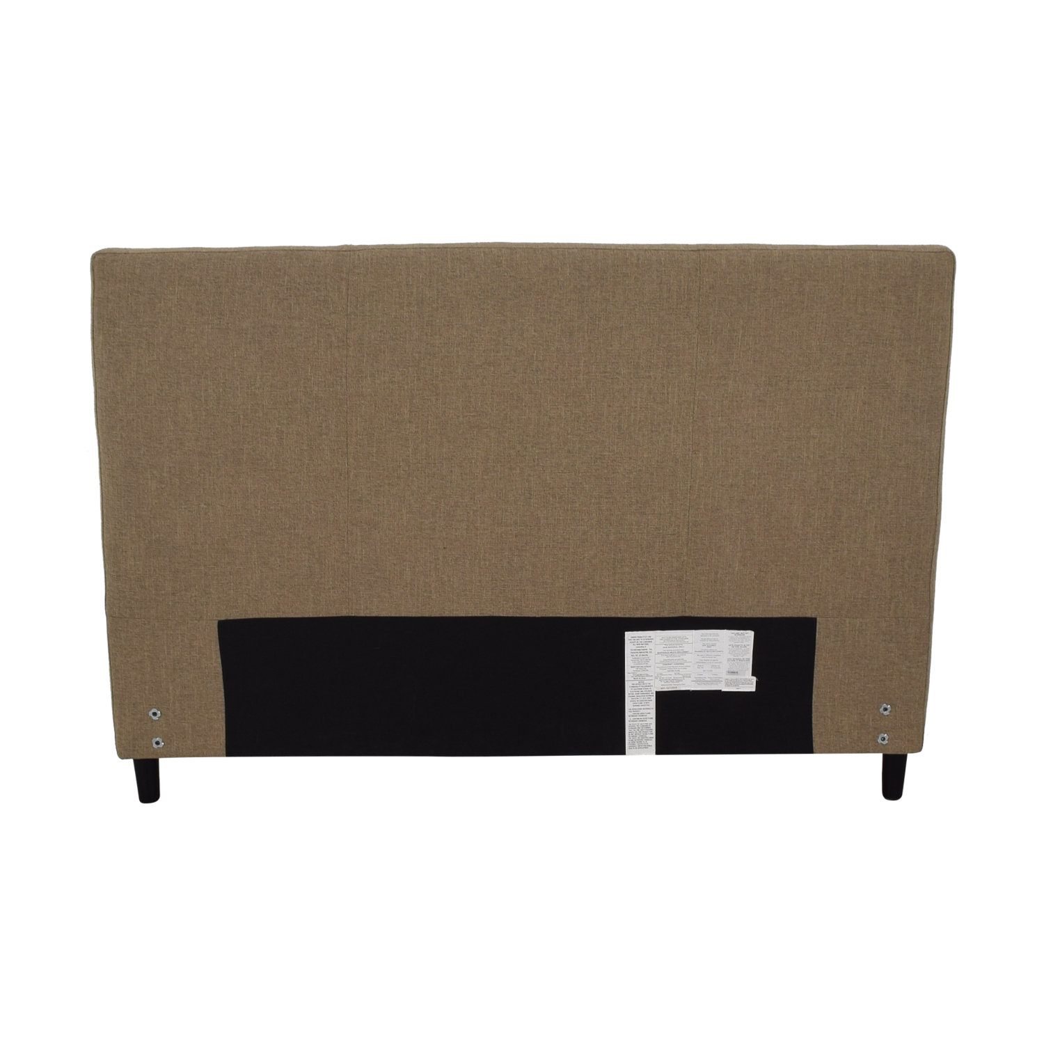 Crate & Barrel Crate & Barrel Lowe Khaki Upholstered Queen Headboard dimensions