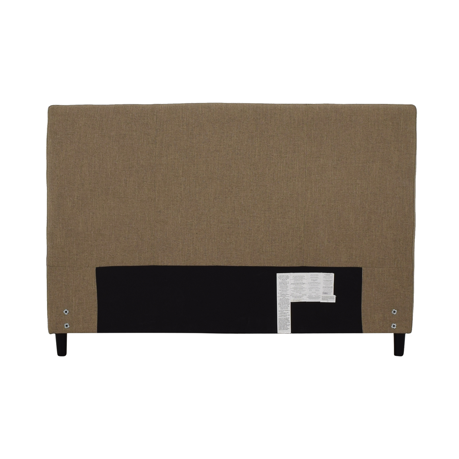 shop Crate & Barrel Lowe Khaki Upholstered Queen Headboard Crate & Barrel Headboards