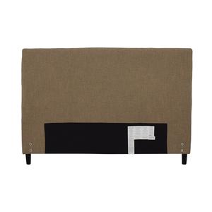 Crate & Barrel Crate & Barrel Lowe Khaki Upholstered Queen Headboard nj