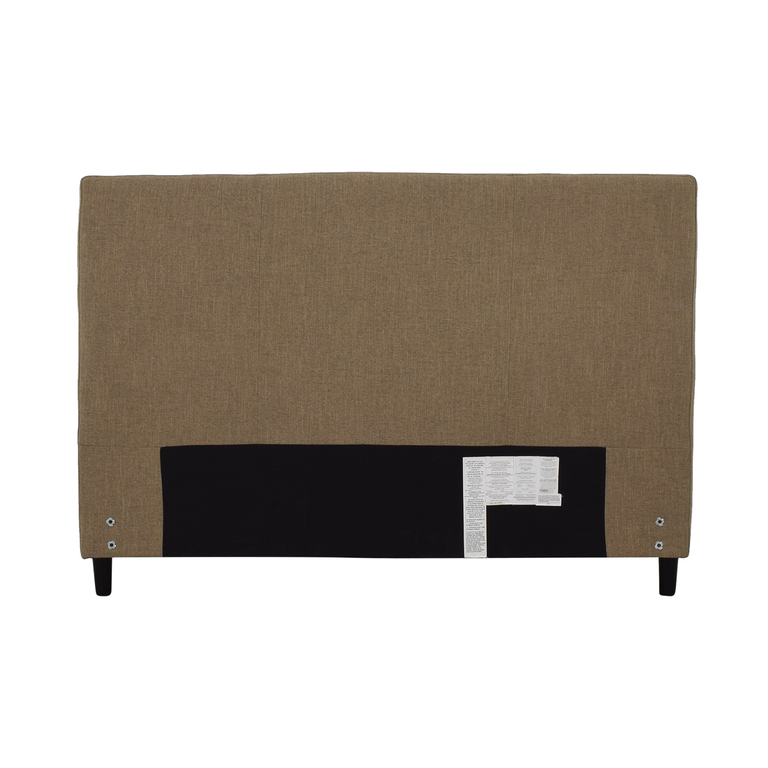 Crate & Barrel Crate & Barrel Lowe Khaki Upholstered Queen Headboard dimensions