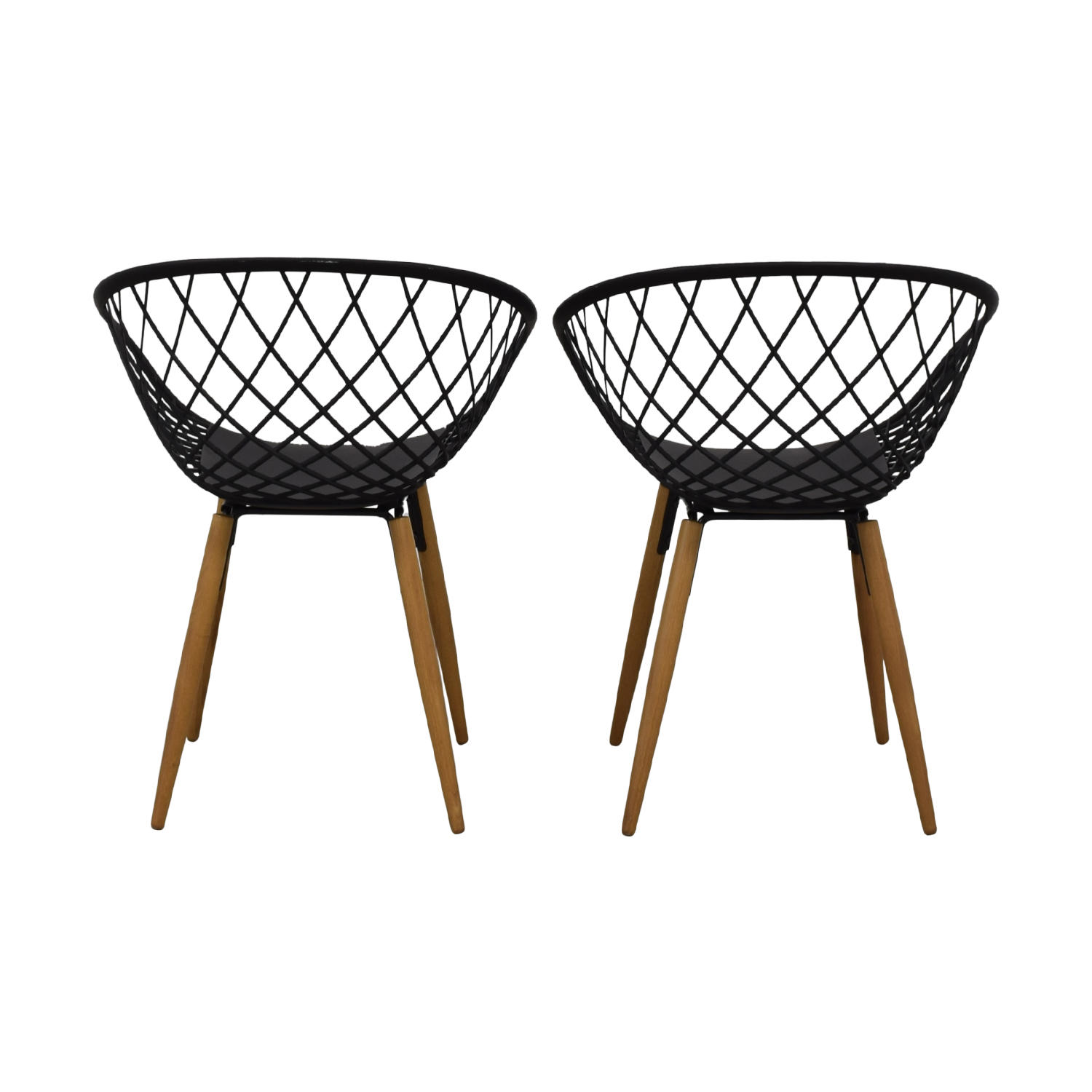 CB2 CB2 Sidera Black Chairs Accent Chairs