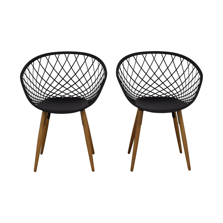 CB2 CB2 Sidera Black Chairs discount