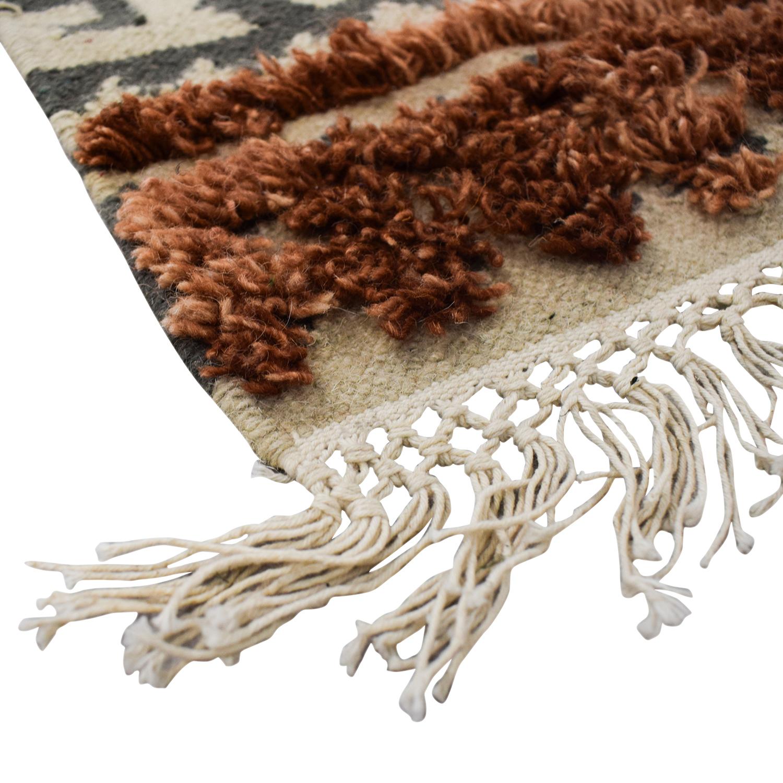 World Market World Market Blush Wool Kilim Rowena Rug nyc