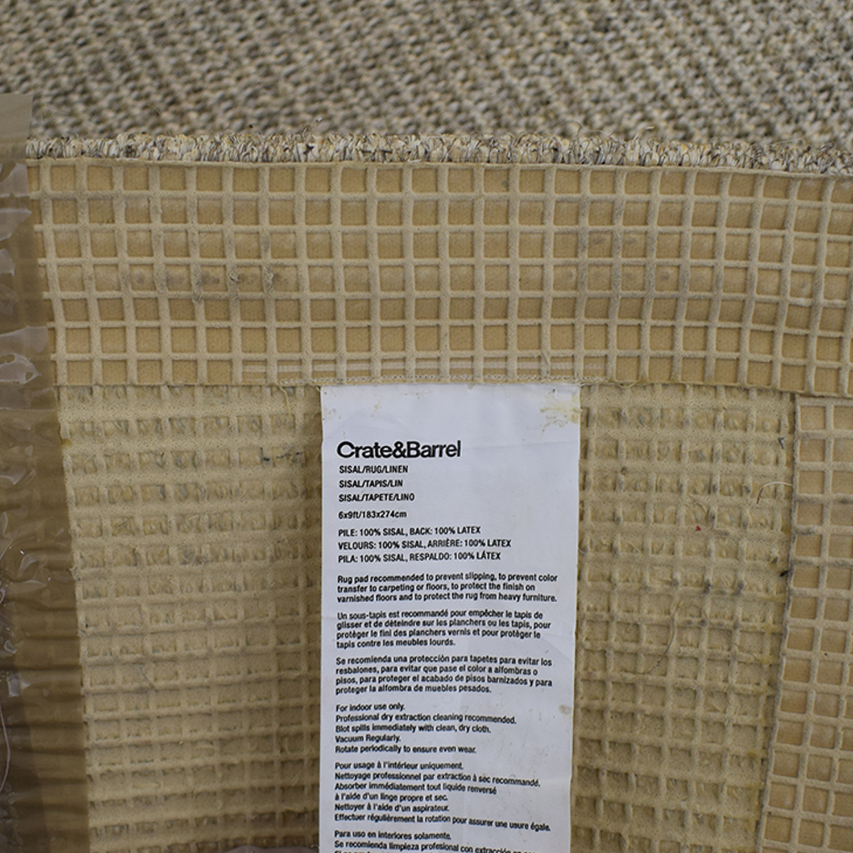 shop Crate & Barrel Crate & Barrel Sisal Almond Rug online