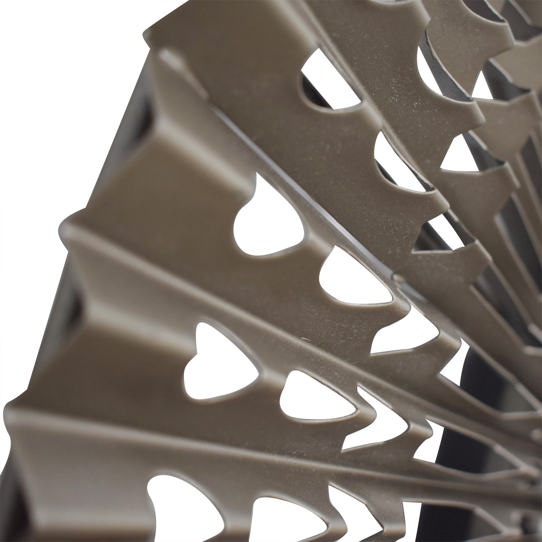 CB2 Folded Metal Wall Mirror sale