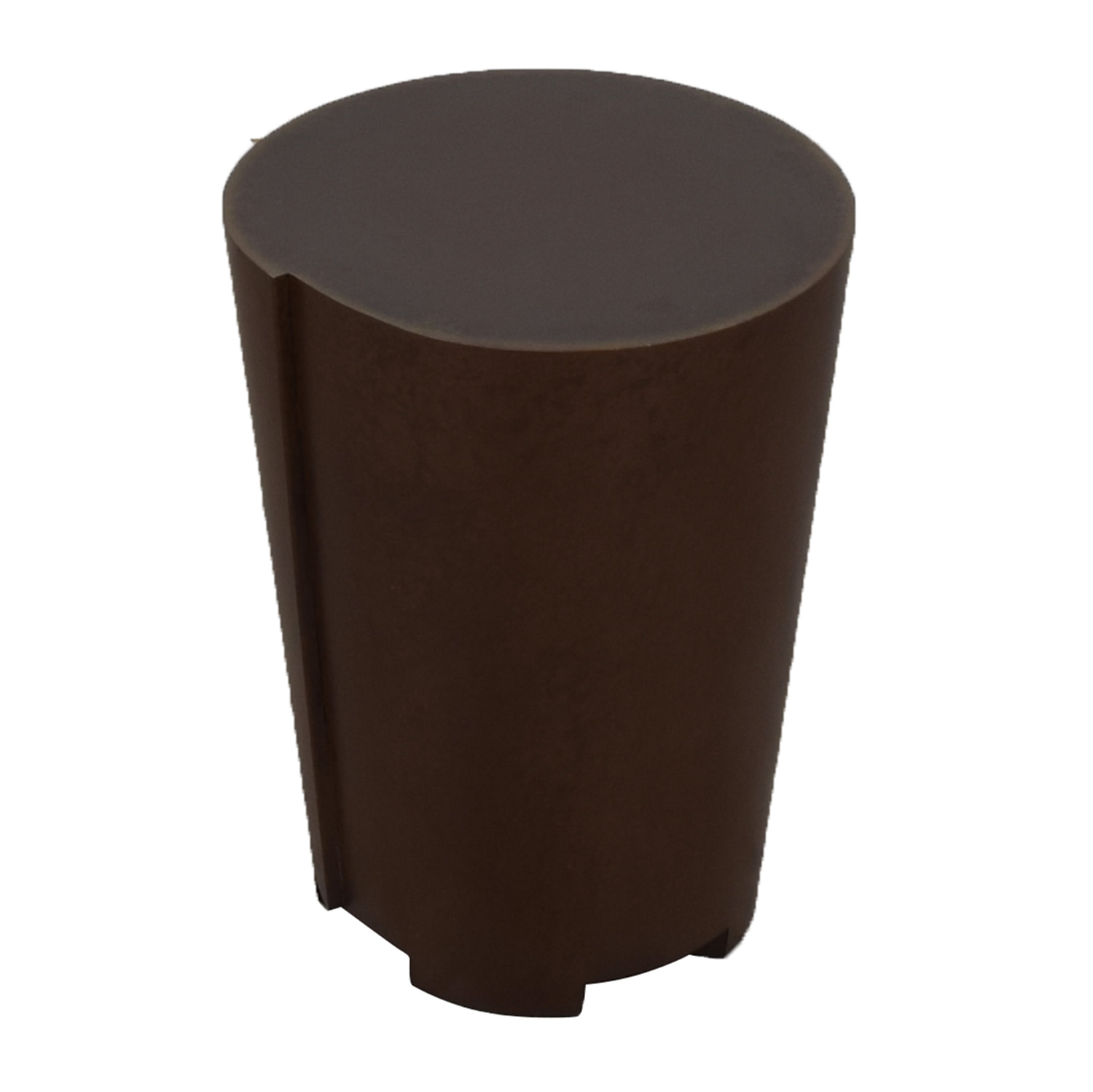 buy Crate & Barrel Bronze Drum Table Crate & Barrel End Tables